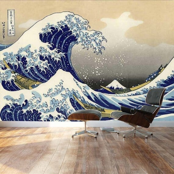 The Great Wave Japanese Painting Wallpaper
