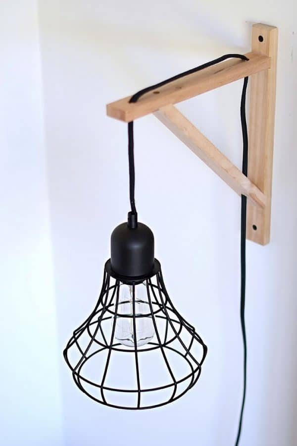 Cage Light Sconce Ikea Hack