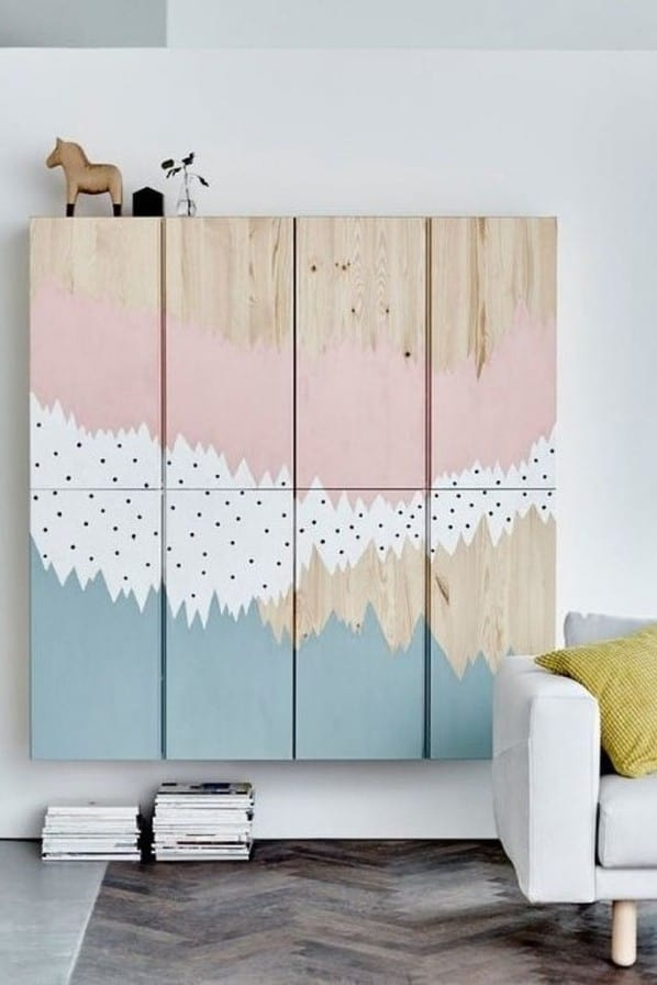 Custom Painted Wall Cabinets