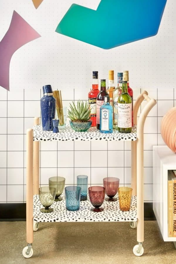 Dalmation Inspired Drinks Trolley