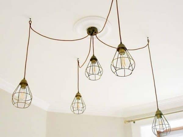 Copper Pendant Cluster Light Ikea Hack