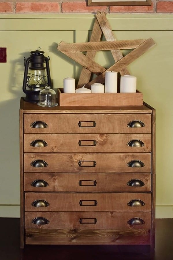 Rustic Apothecary Drawers Ikea Hack