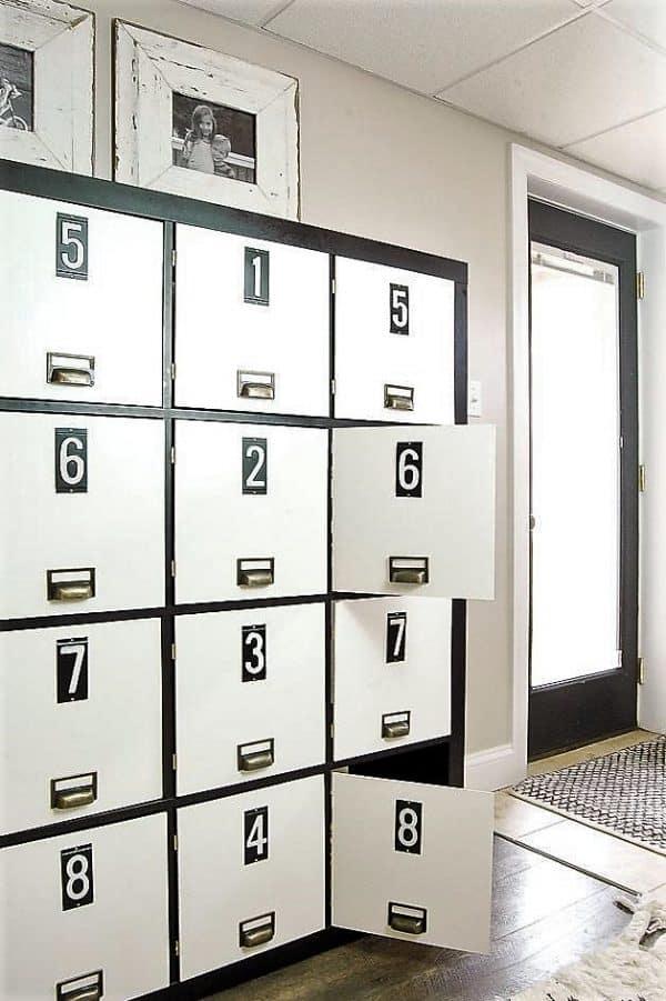 Industrial Locker Effect Cabinet Ikea Hack