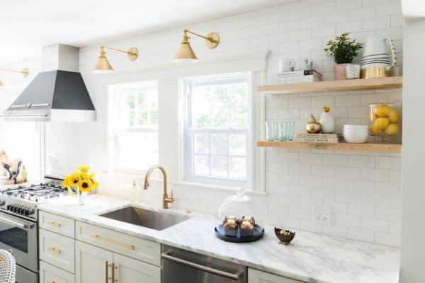 Modern Farmhouse Kitchen Brass Fittings