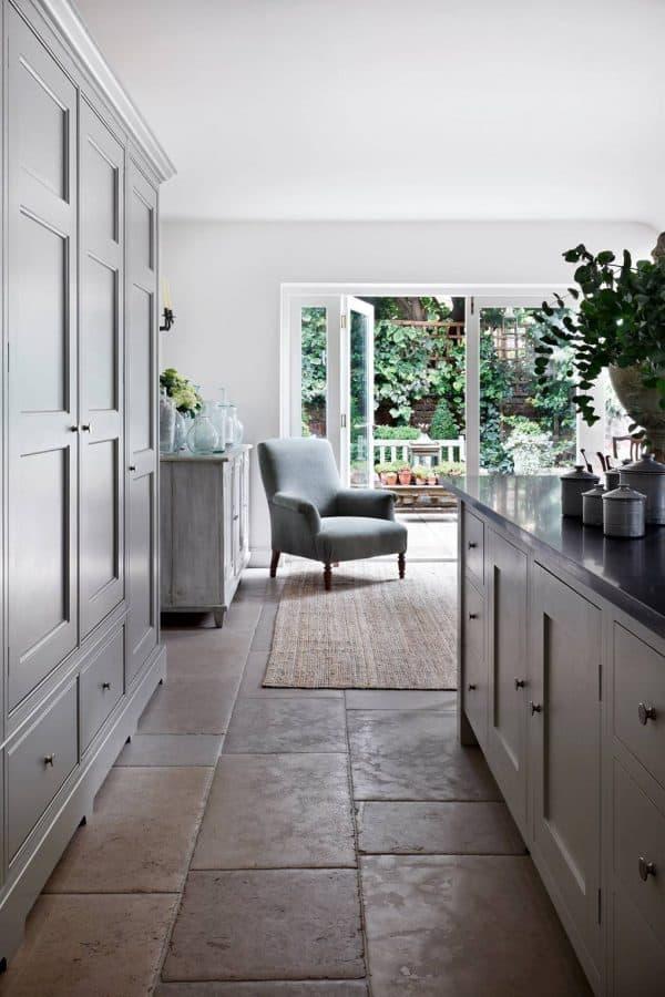 Modern Farmhouse Kitchen Flagstone Floor House & Garden