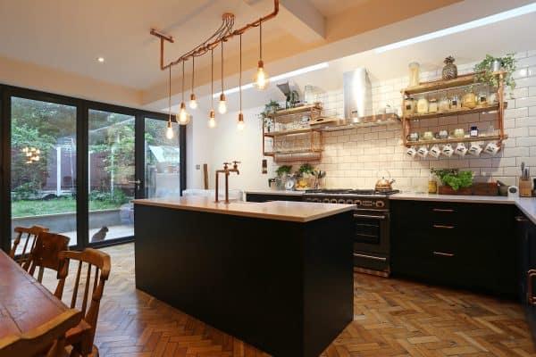 Modern Farmhouse Kitchen Industrial Accents