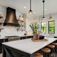 Modern Farmhouse Kitchen Open Shelving