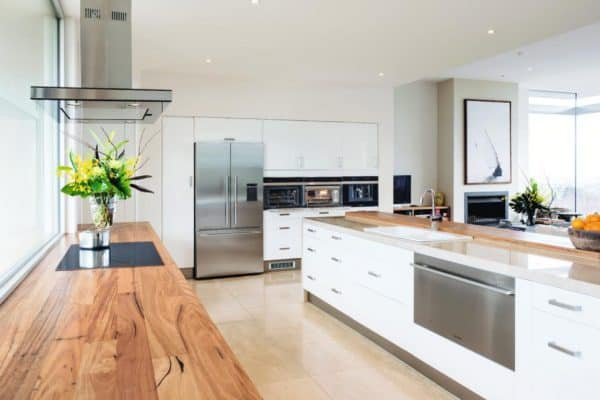 Modern Farmhouse Kitchen Solid Wood Butcherblock Worktops