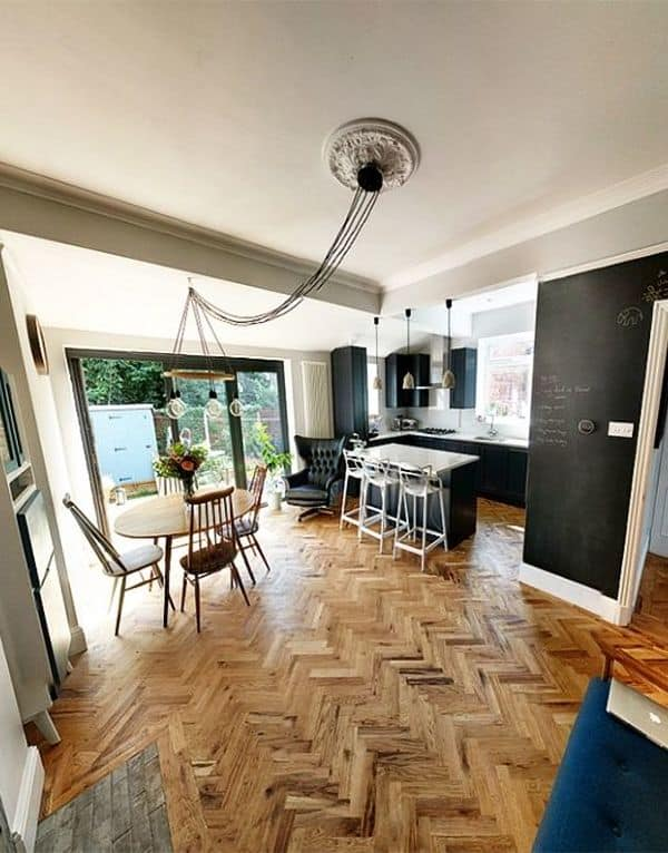 Modern Farmhouse Kitchen Wood Flooring