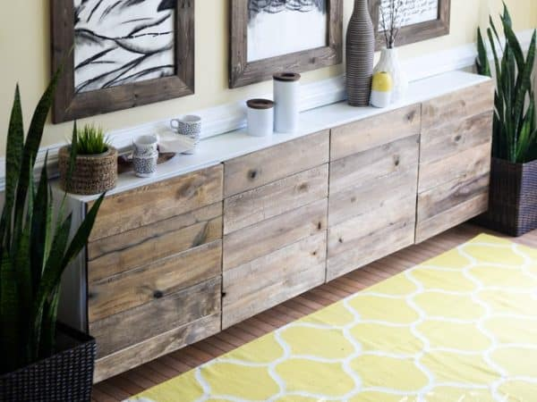 Reclaimed Wood Clad Sideboard