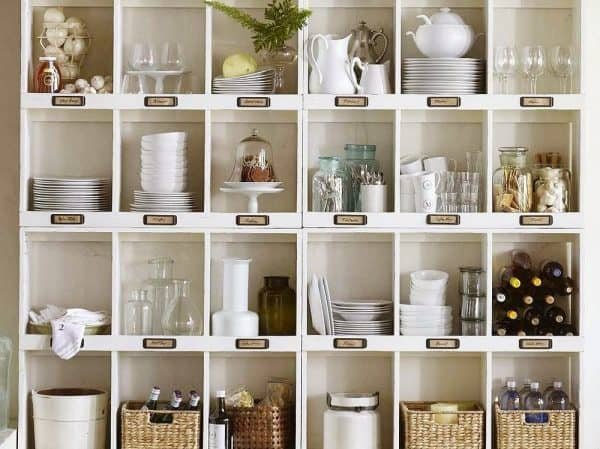 Vintage Cubby Shelving