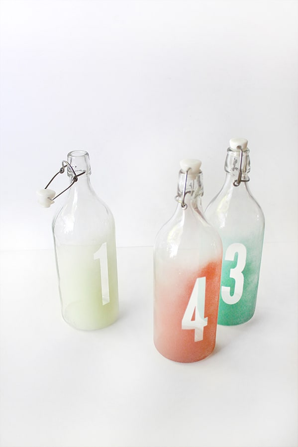 Coloured Glass Table Numbers Ikea Wedding Hacks