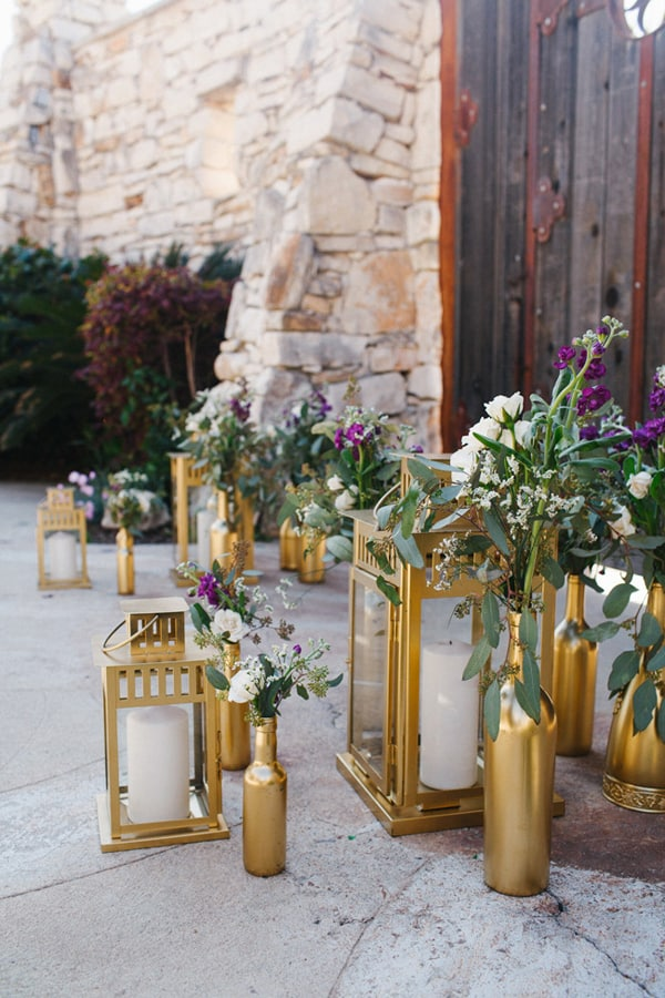 Gold Candle Lanterns