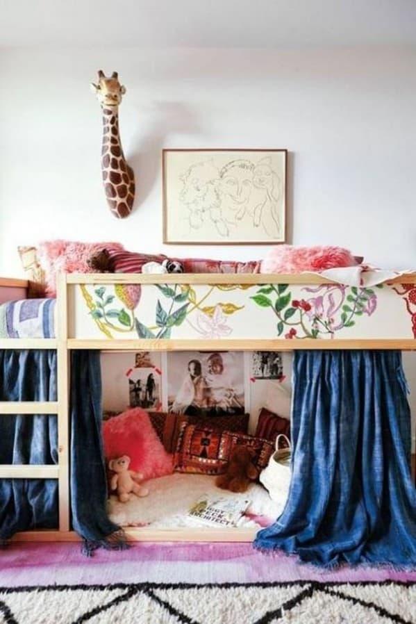 Ikea Kura Bed Wallpaper Hack