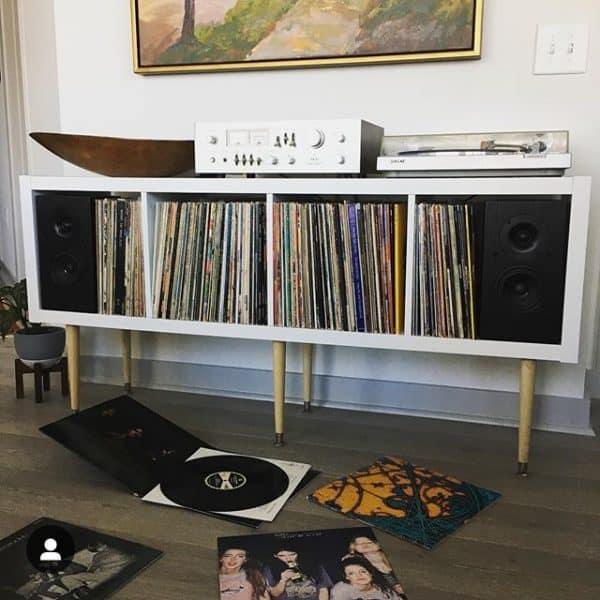 Mid Century Vinyl Storage Hack