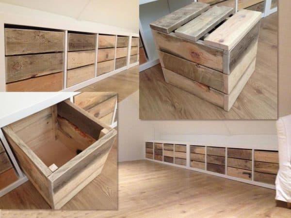 Kallax Rustic Wood Box Hack