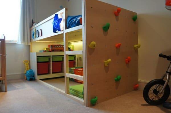Ikea Kura Bed Climbing Wall Hack