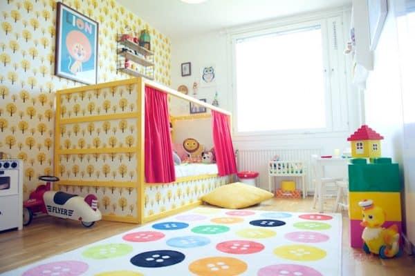 Ikea Kura Bed Hack Colourful