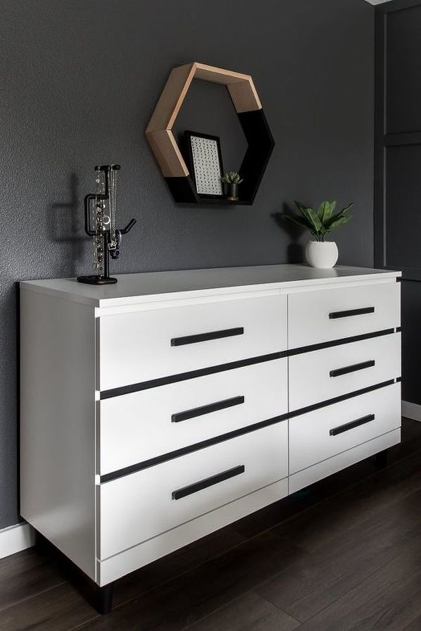 Ikea Malm Black and White Hack