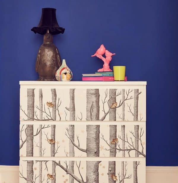 Ikea Malm Tree Decoupage Dresser Hack