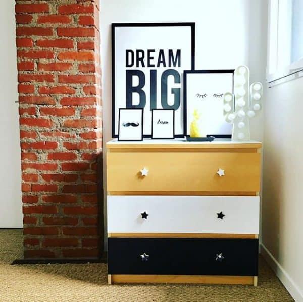 Ikea Malm Tricolor Dresser Hack