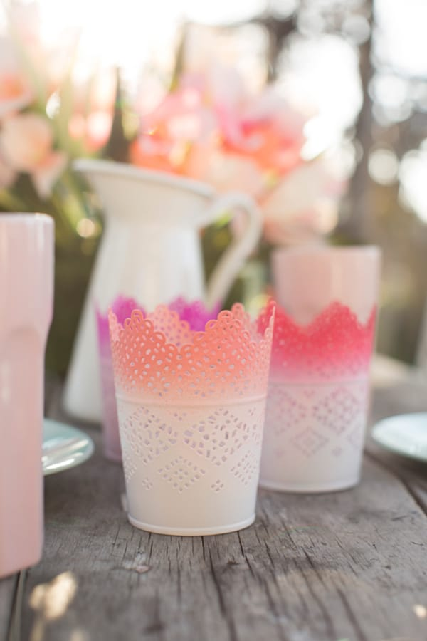 Ombre Tea Light Holders Ikea Wedding Hacks