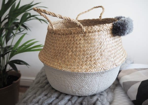 Painted Seagrass Basket Hack