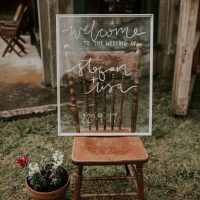 Picture Frame Glass Wedding Noticeboard Hack