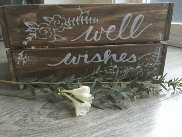 Rustic Wedding Card Crate Hack