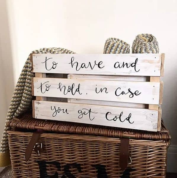 Wooden Blanket Crate