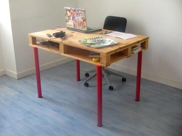 Ikea ADILS Pallet Desk Hack