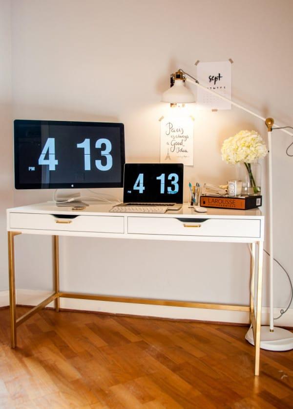 Ikea ALEX Gold Desk Hack