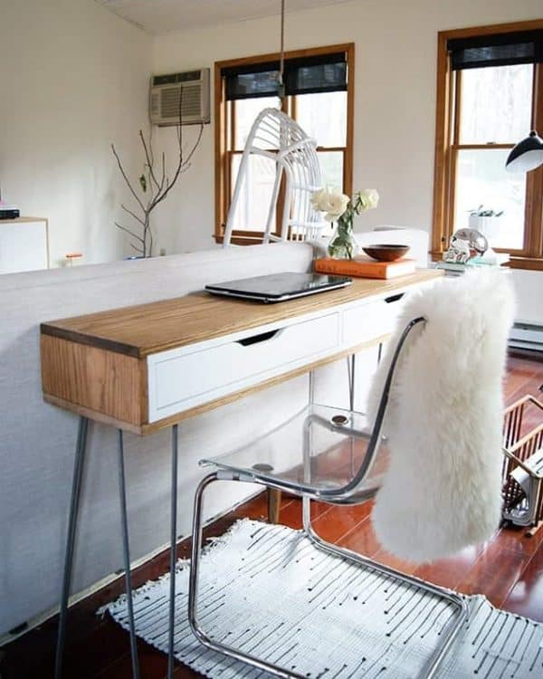 Ikea ALEX Slim Wood Wrapped Desk Hack
