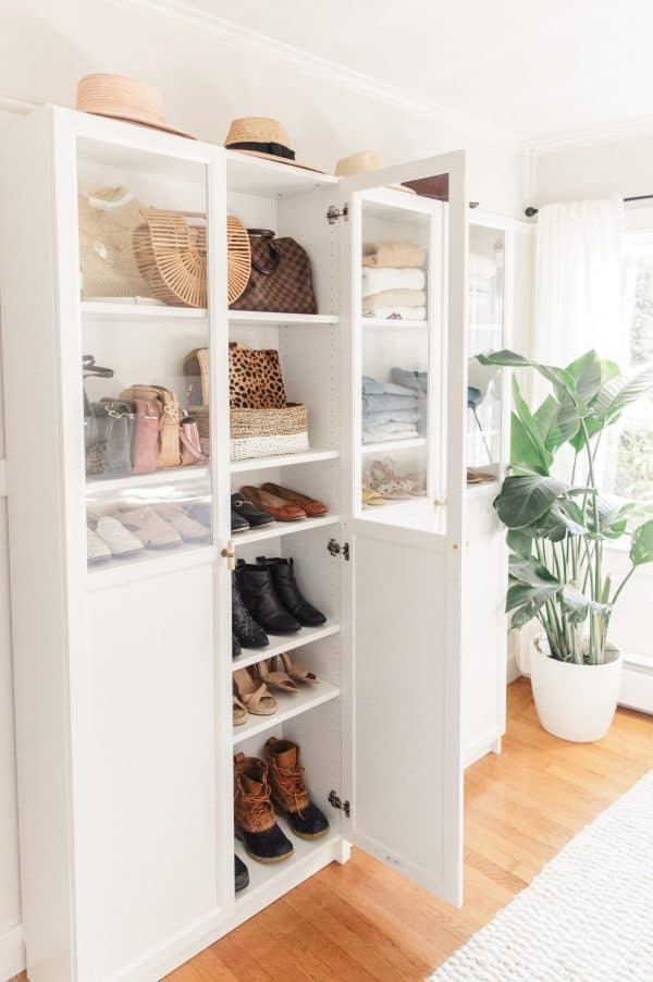 Ikea Billy Bookcase Entranceway Storage Hack