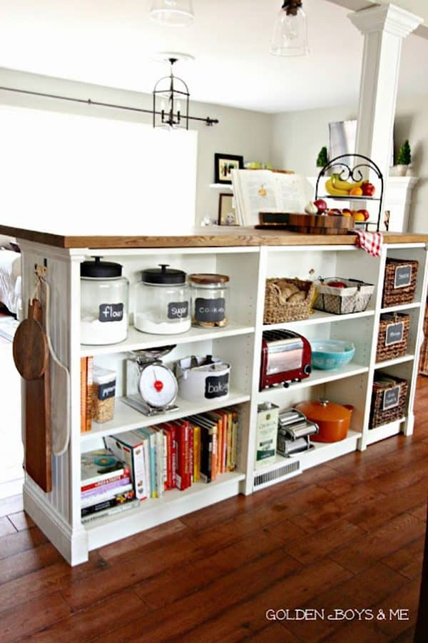Ikea Billy Bookcase Kitchen Island Hack