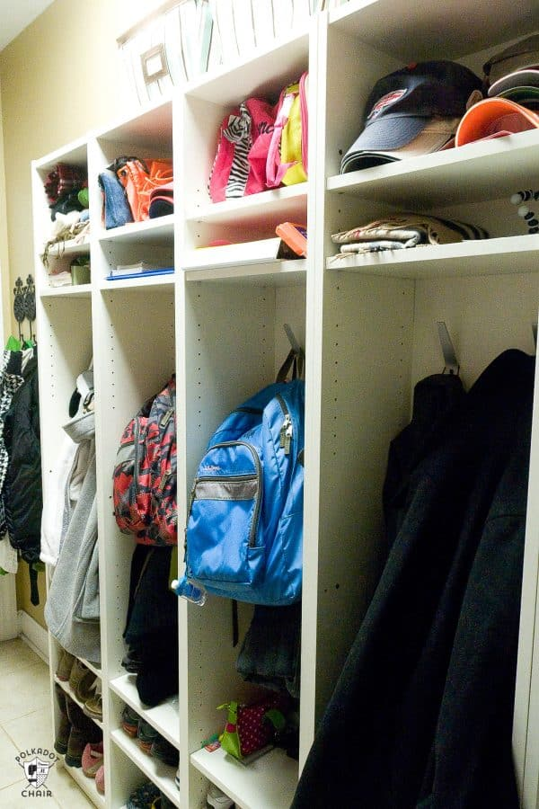 Ikea Billy Bookcase Mudroom Hack