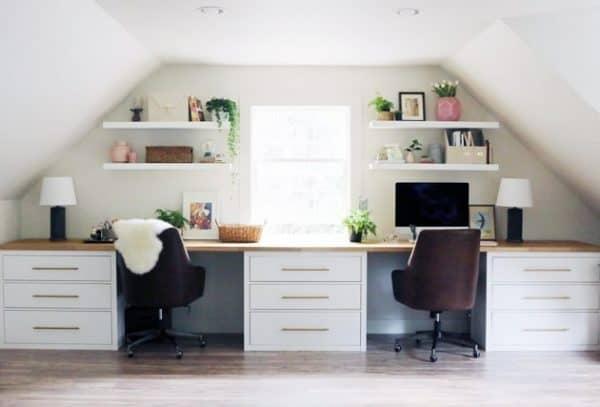 Ikea HEMNES Elegant Double Desk Hack