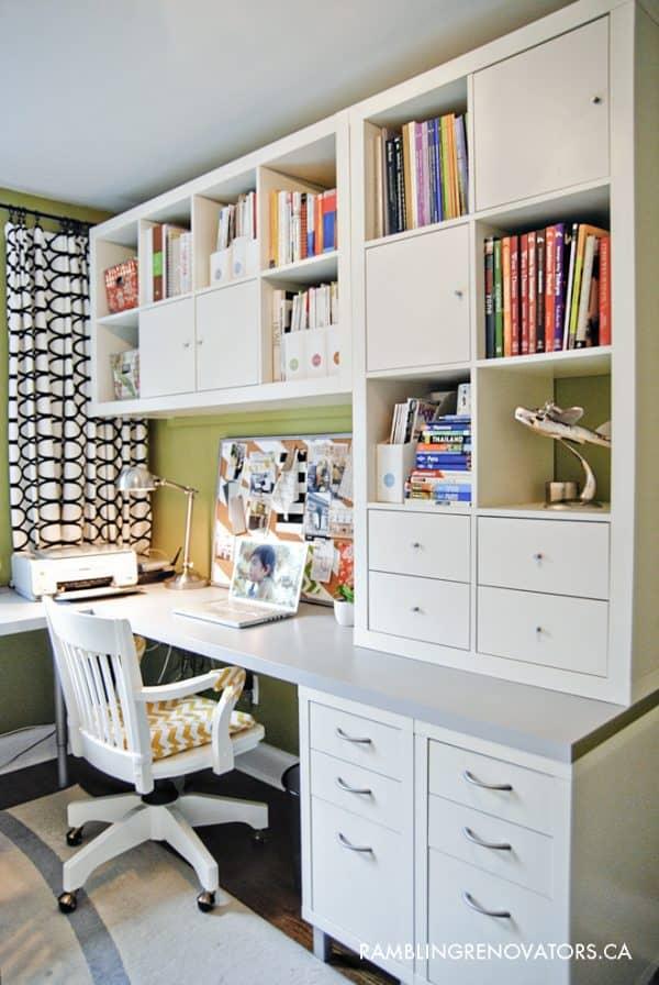 Ikea KALLAX Organized Office Desk Hack