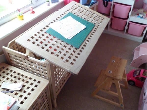 Ikea Kids Angled Desk Hack