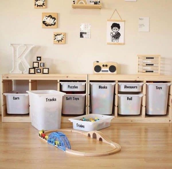 Ikea Kids Labelled Storage Hacks