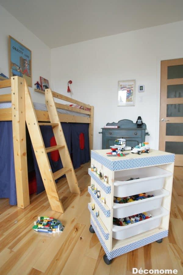 Ikea Kids Lego Storage Cart Hack