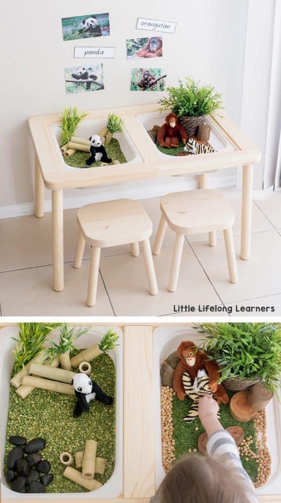 Ikea Kids Sensory Table Hack