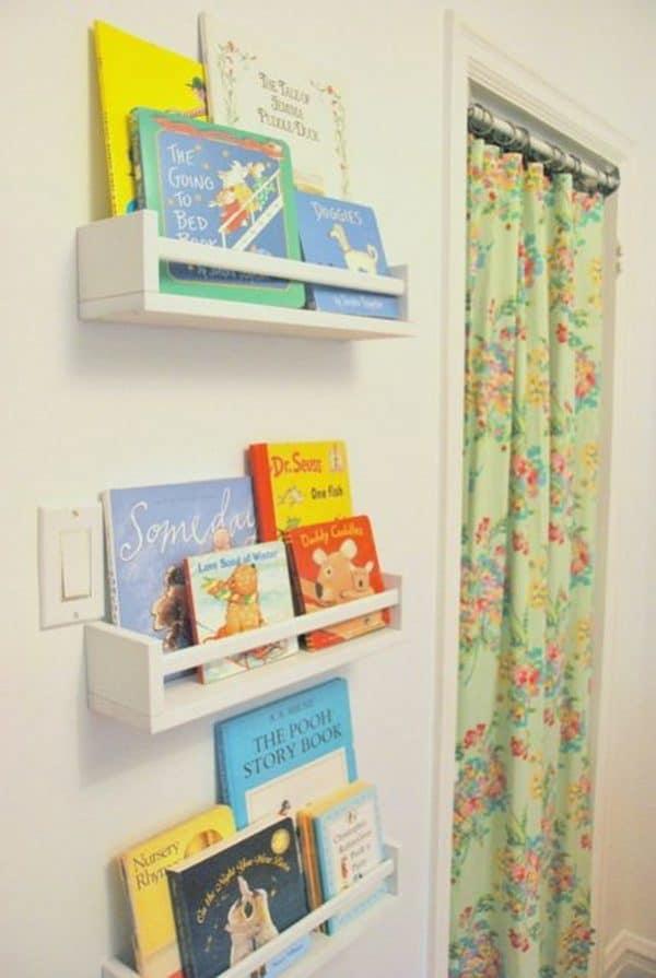 Ikea Kids Spice Rack Bookshelf Hack