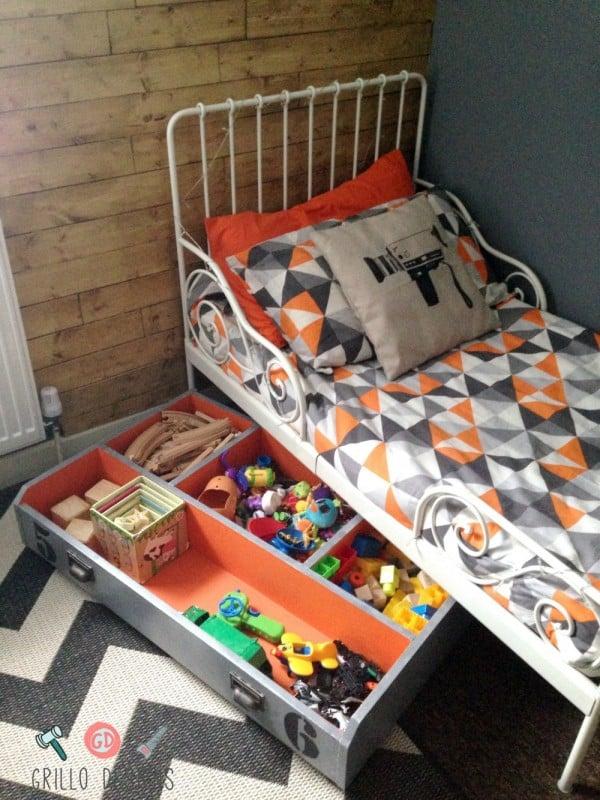 Ikea Kids Under Bed Storage Hack