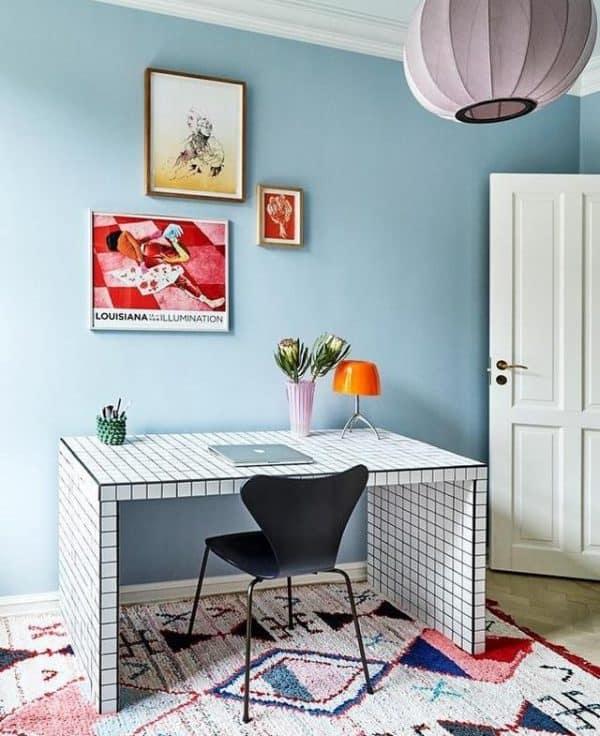 Ikea LACK Tiled Desk Hack