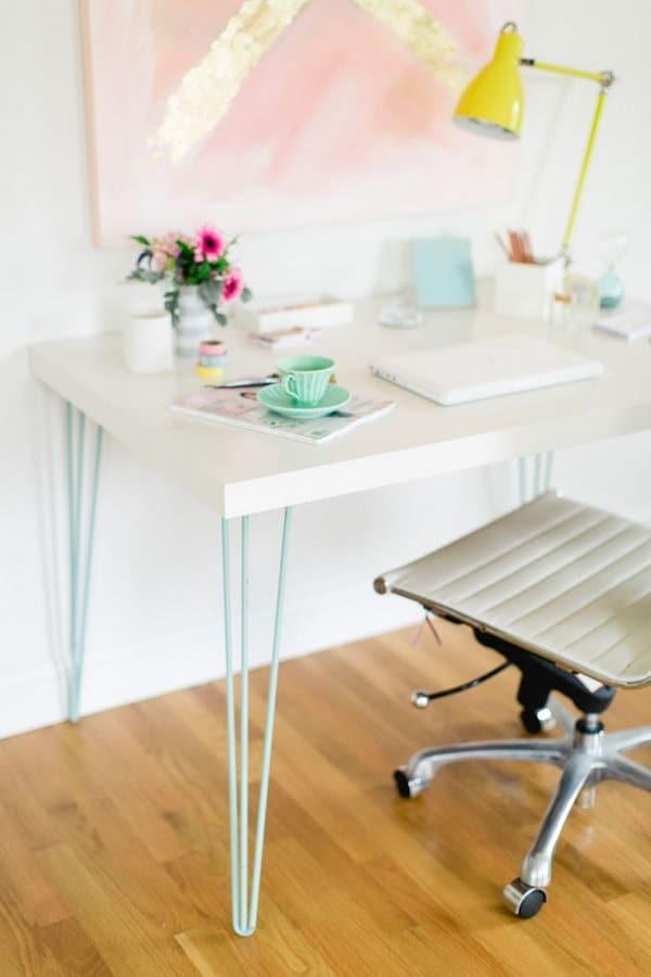 Ikea LINNMON Hairpin Legs Desk Hack