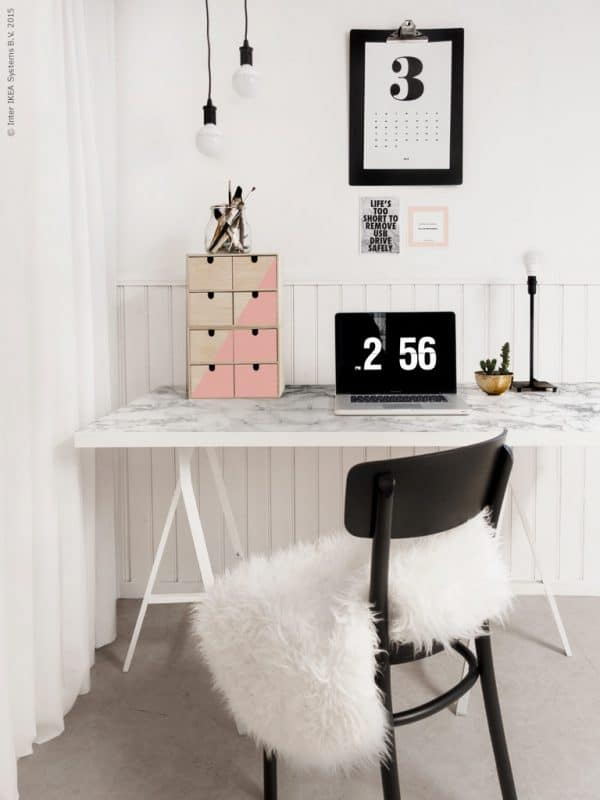 Ikea LINNMON Marble Top Desk Hack