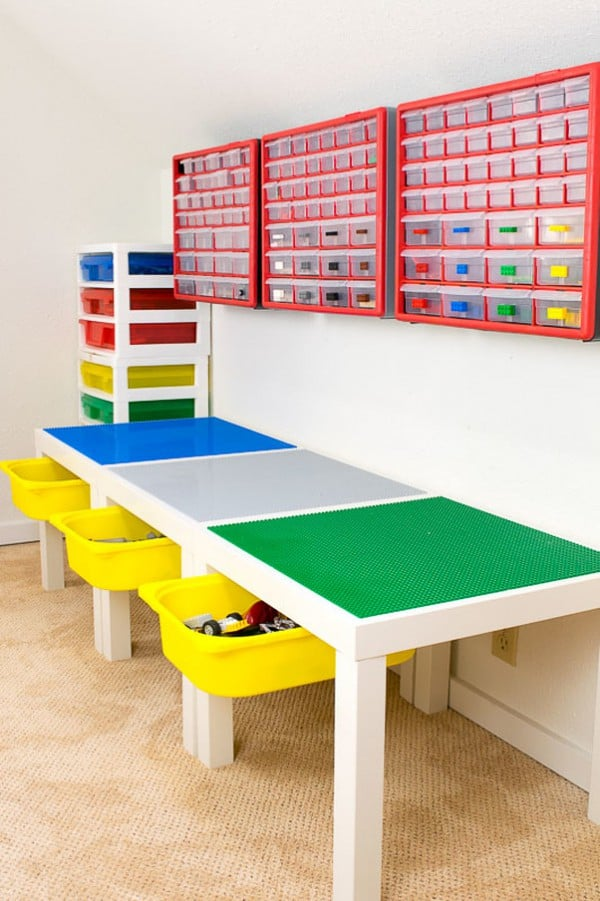Ikea Lego Play Table and Storage