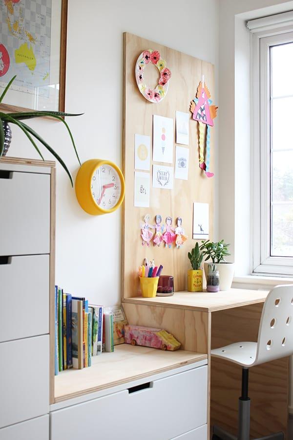 Ikea NORDLI Plywood Wrapped Desk Hack