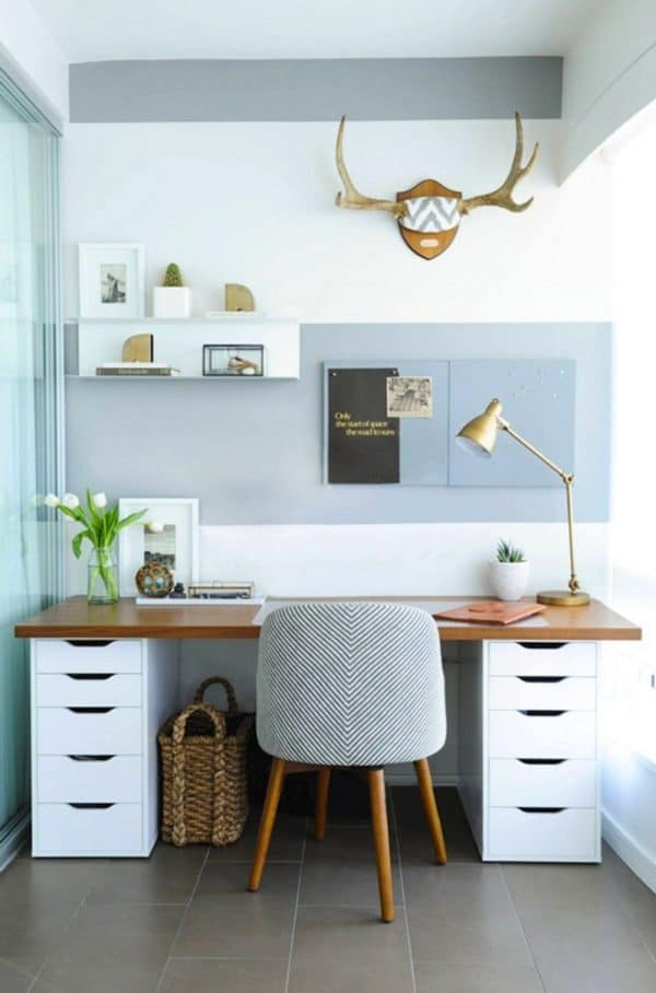 Ikea ALEX Wood Top Desk Hack